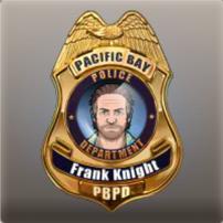 Placa de policía de Frank Knight
