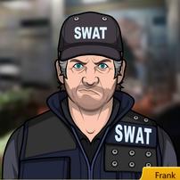 Frank como SWAT