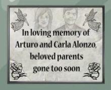 Recuerdo de Arturo y Carla Alonzo