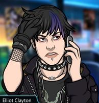 Elliot hablando por telefono peinandose el cabello