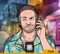 Frank Con el teléfono, sonriendo