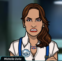 Michelle enojada 1