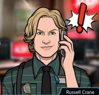 Russell Con el teléfono, confiado