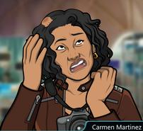 Carmen con la cabeza lesionada
