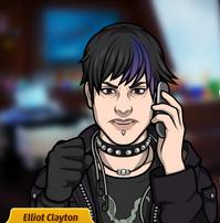 Elliot en el telefono serio