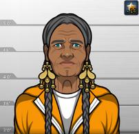 Mama Yasmine con uniforme de prision