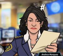 Andrea Leeyendo un Documento