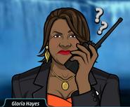 Gloria En el walkie talkie1