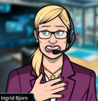 Ingrid sudando 1