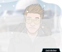 Jack cubierto de nieve