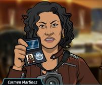 Carmen con su placa