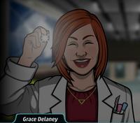 Grace con una linterna 2