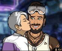 Zara besando a kai