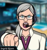 Ingrid apuntando con su dedo 2