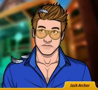 Jack cubierto de plumas