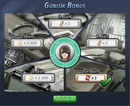 Günlük Bonus