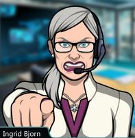 Ingrid apuntando con su dedo 3