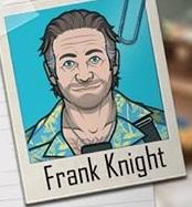 Frank en una promoción ''Examen''