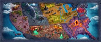 Mapa Investigaciones Sobrenaturales
