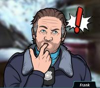 Frank Poniendose el dedo en la boca