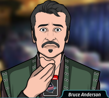 Bruce con su protesis