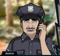 Ramirez En el teléfono, asustado1