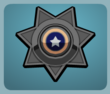 Black Police Badge male