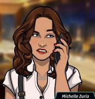 Michelle en el teléfono segura