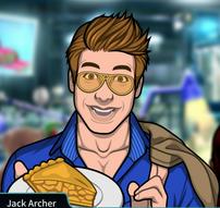 Jack con un plato con tarta