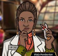 Viola Sosteniendo un cuchillo sangriento