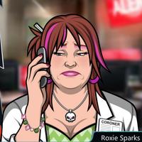 Roxie Con el teléfono, deprimida