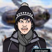Elliot vestido en invierno