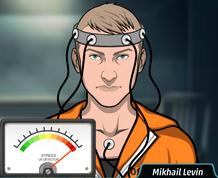 Mikhail en teste