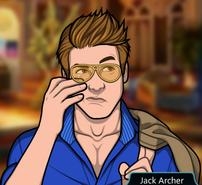 Jack limpiando sus lágrimas