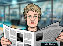 Ripley Leeyendo el periodico