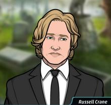 Russell Crane en el funeral de Frank Knight