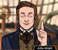 Arthur indicando