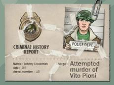 Registro del arresto de Johnny.