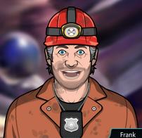 Frank Vestido con traje de espeleología