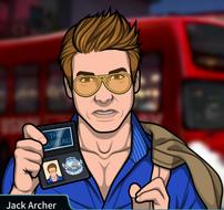 Jack con su placa