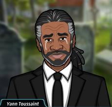 Yann Toussaint en el funeral de Frank Knight