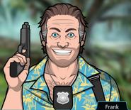 Frank Holding gun