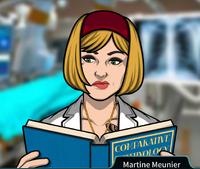 Martine Leyendo un libro