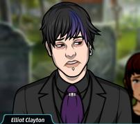 Elliot con un traje negro