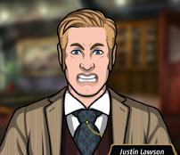 Justin en El candidato maquiavélico