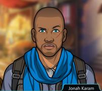 Jonah con un pañuelo azul
