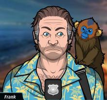 Frank con el mono de Lenny