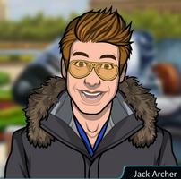 Jack con un abrigo