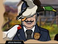 Oficial Ramirez en El Muerto en la Pradera