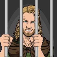 Hans en prision